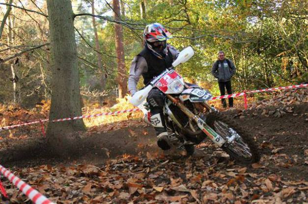 Enduro championship action at Thetford Forest