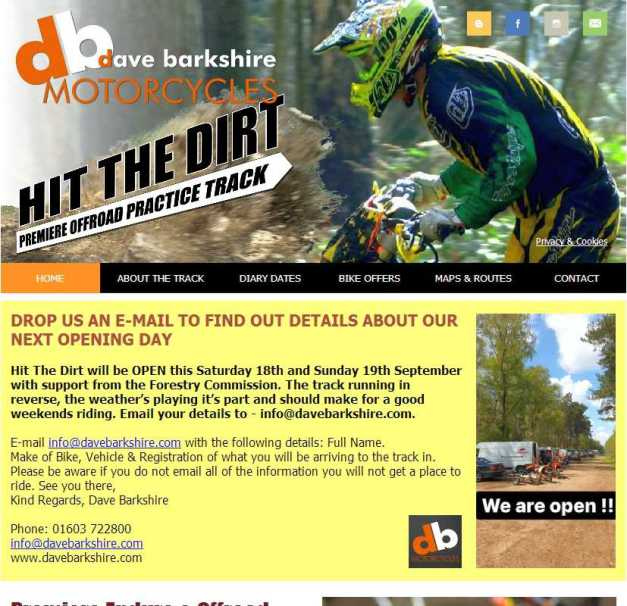 Hit The Dirt Enduro Track website