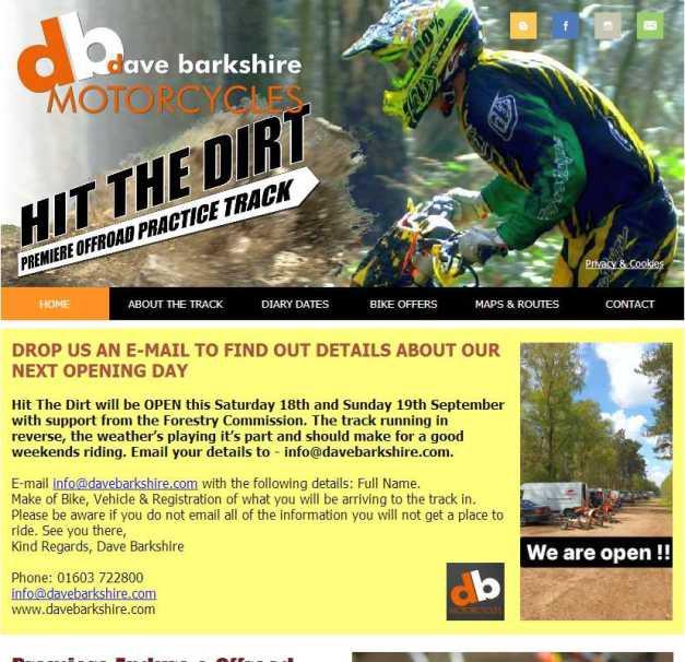 Hit The Dirt Enduro Track website