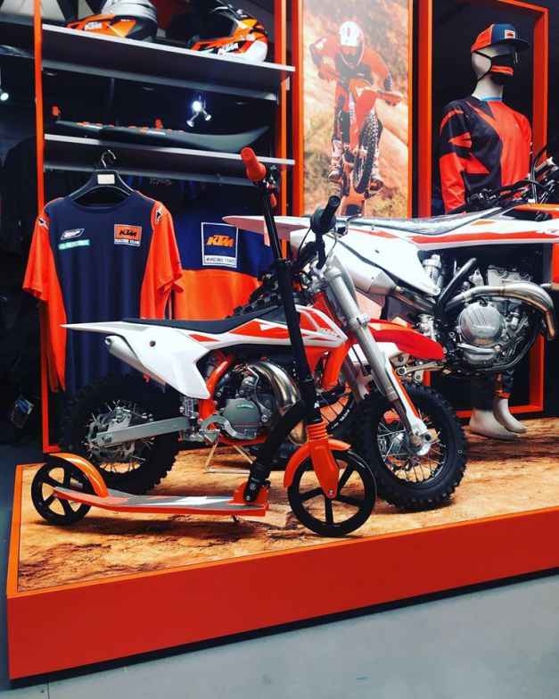 The new KTM 360 display is now in our showroom, 6th July