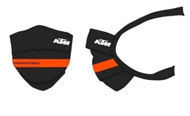 KTM branded fully washable face masks .. limited quantities .. limited offer