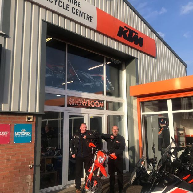 Collection day for Richard and his brand new 2020 KTM 690 Enduro, 17th March