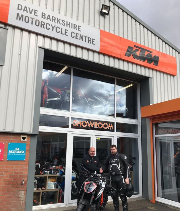 Luke today collecting his brand new KTM 1290 SuperDuke R, 25th Feb