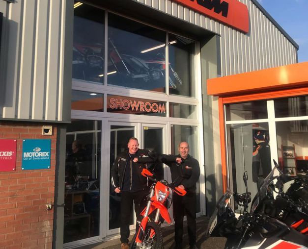 Collection day for Richard and his brand new 2020 KTM 690 Enduro