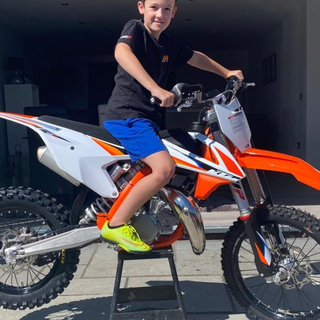 Alfie taking delivery of his brand new 2021 KTM 85 SX, 3rd August