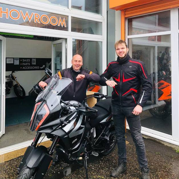 Not the best weather but New bike day for hardcore rider KTM 1290 Super Adventure, 21st May