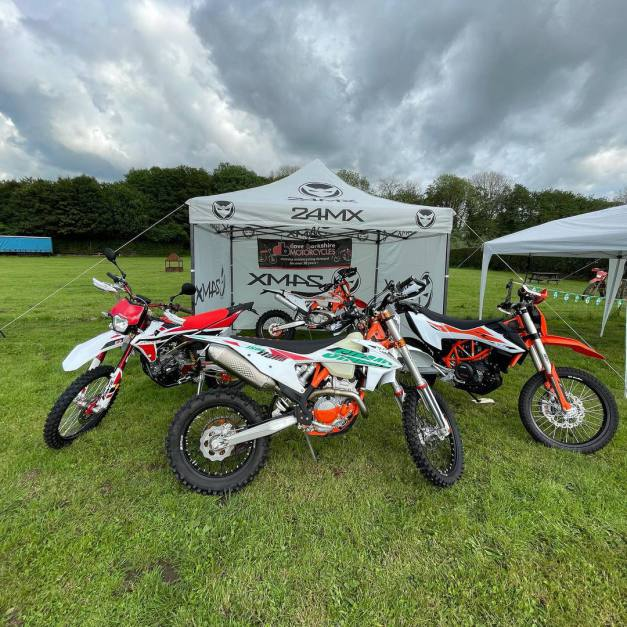 Dave Barkshire motorcycles representing at the @suffolktrailriders iceni weekend