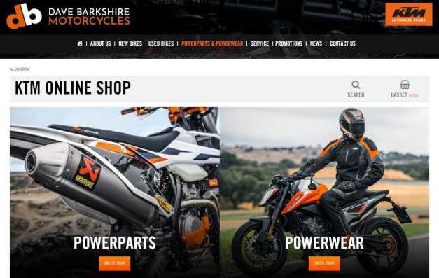 Dave Barkshire KTM online shop