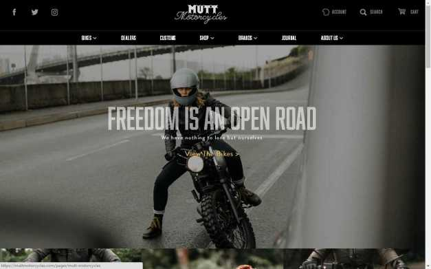 Go to the Mutt Motorcycles website
