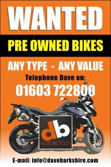 Wanted, Pre Owned Bikes