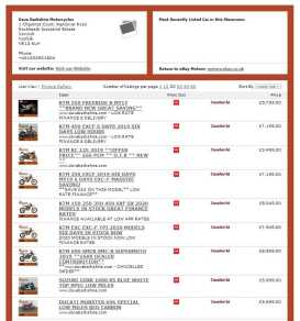Dave Barkshire Ebay Showroom pages